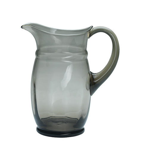 Glass pitcher warm grey