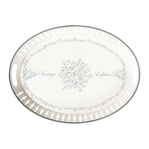 Metal tray Stephanie warm grey