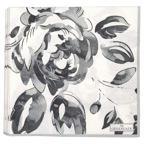 Paper napkin (large) - Amanda dark grey 20 pcs