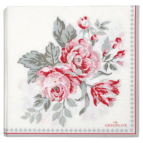 Paper napkin (large) - Shirley white 20 pcs
