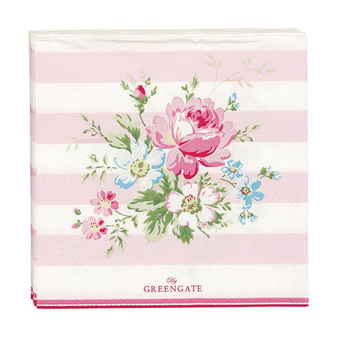 Paper napkin (small) - Marie pale pink 20 pcs