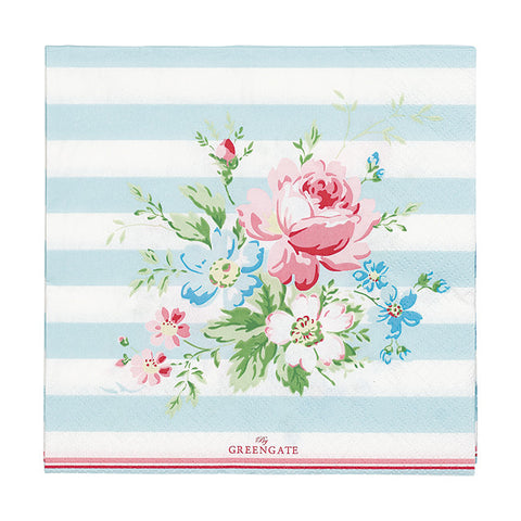 Paper napkin (large) - Marie pale blue 20 pcs
