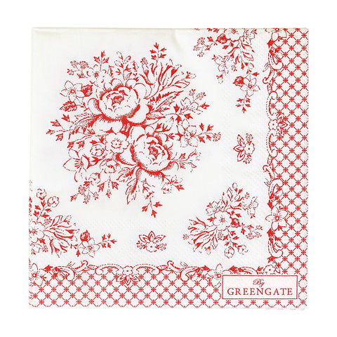 Paper napkin - Stephanie red small 20pcs