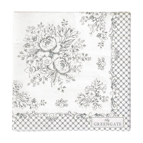 Paper napkin - Stephanie warm grey small 20pcs