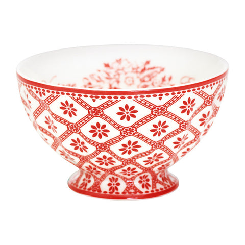 French bowl - Bianca red medium