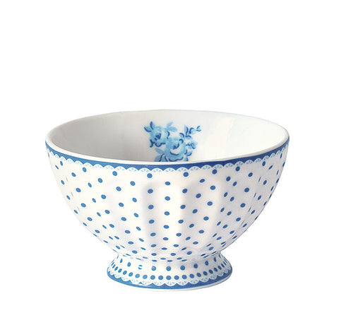 French bowl - Spot indigo medium