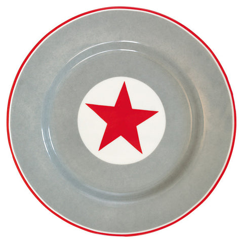 Plate - Big star red