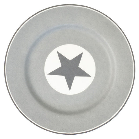 Plate - Big star warm grey