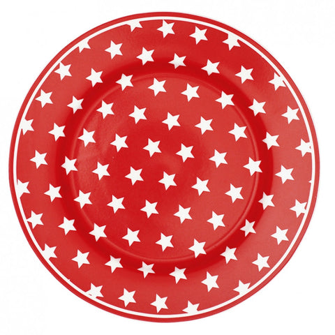 Plate - Star red