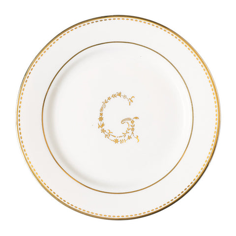 Small Plate - G gold