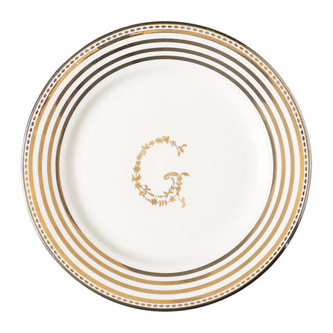 Small Plate - G silver