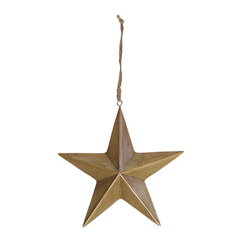 Wooden star gold