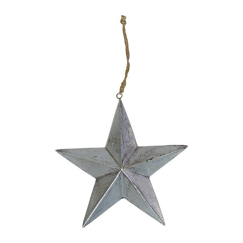 Wooden star silver
