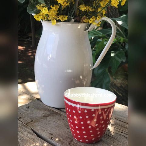 Latte cup - Spot red