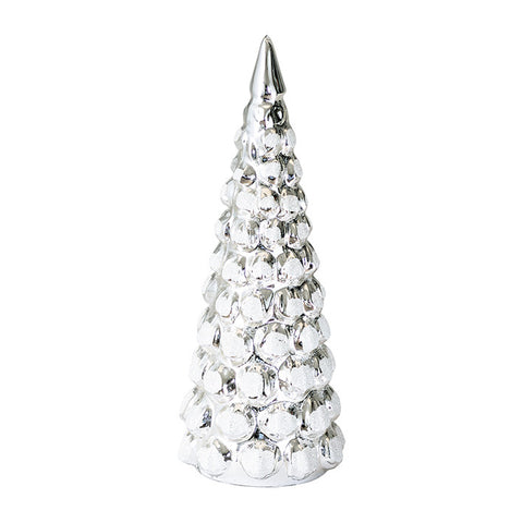 Xmas tree shiny silver small/medium