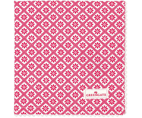 Cloth napkin - Bianca red
