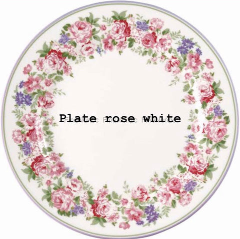 Plate - Rose white