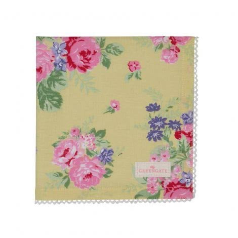 Cloth napkin - Rose pale yellow