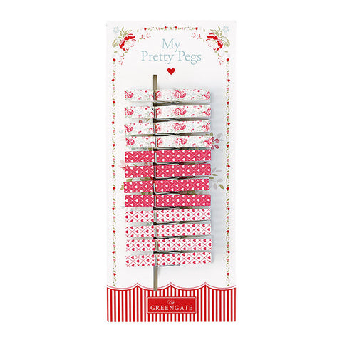 Pegs - Abelone white 12 pcs