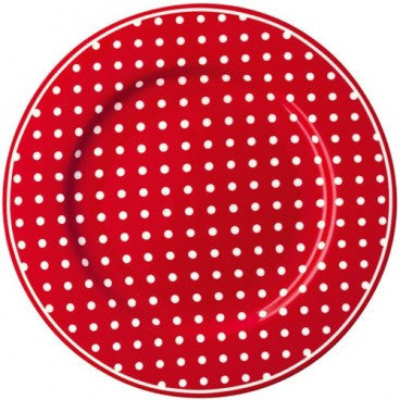 Plate - Spot red