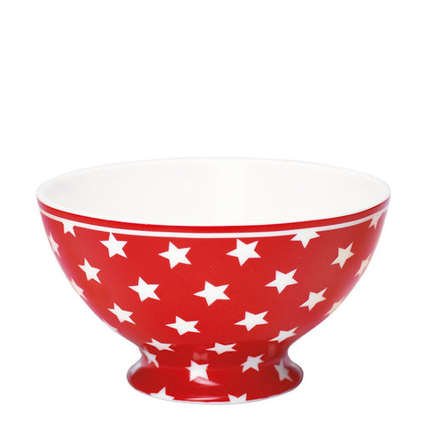 Soup Bowl - Star red