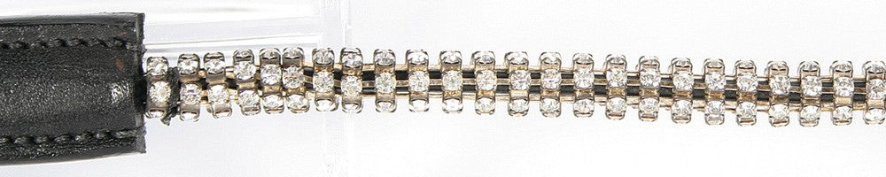 Browband Round Crystal