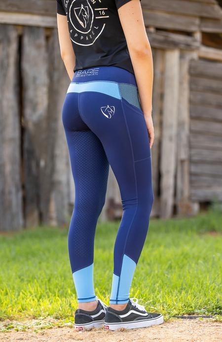 Bare Equestrian Performance Tights Sky
