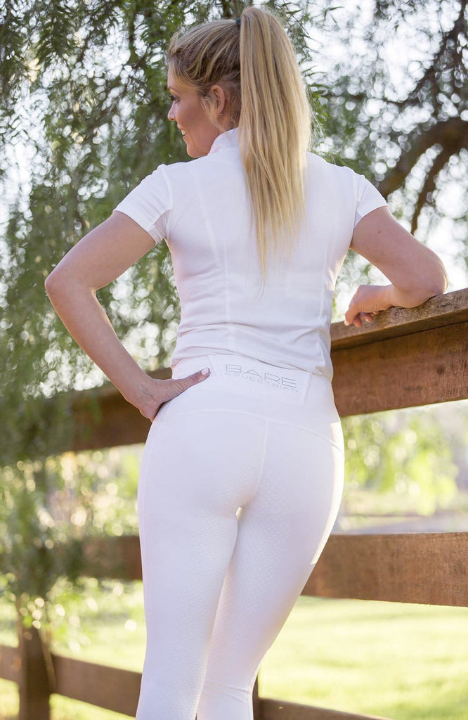 Bare Equestrian Snow White Performance Competition Tights