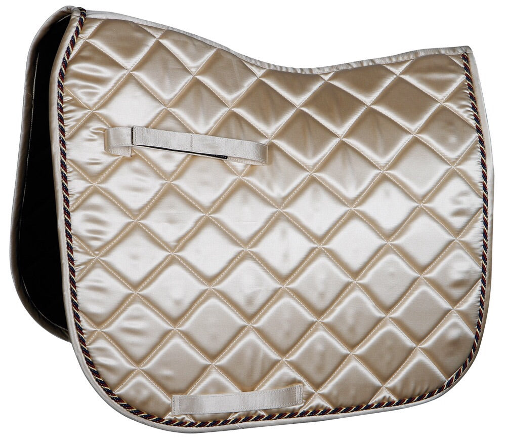 Saddle Pad Satin Rose Gold