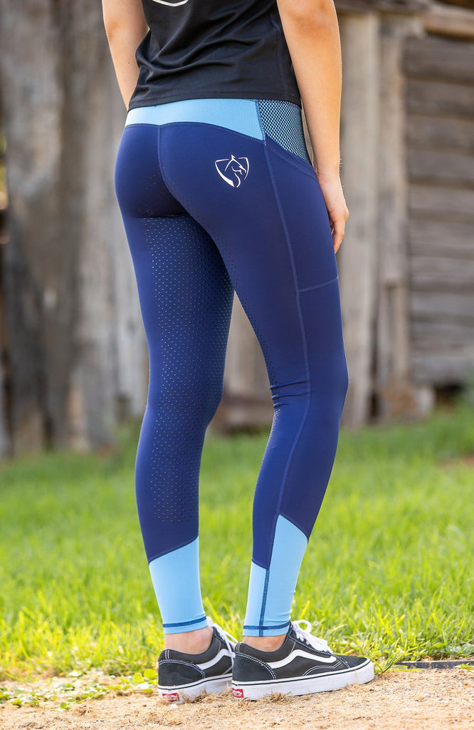 Bare Equestrian Performance Tights Youth - Sky