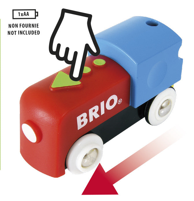 This great 25 piece Brio Battery Train Set is for the youngest train drivers.They can build a track layout with the mountain blocks and the tunnel.