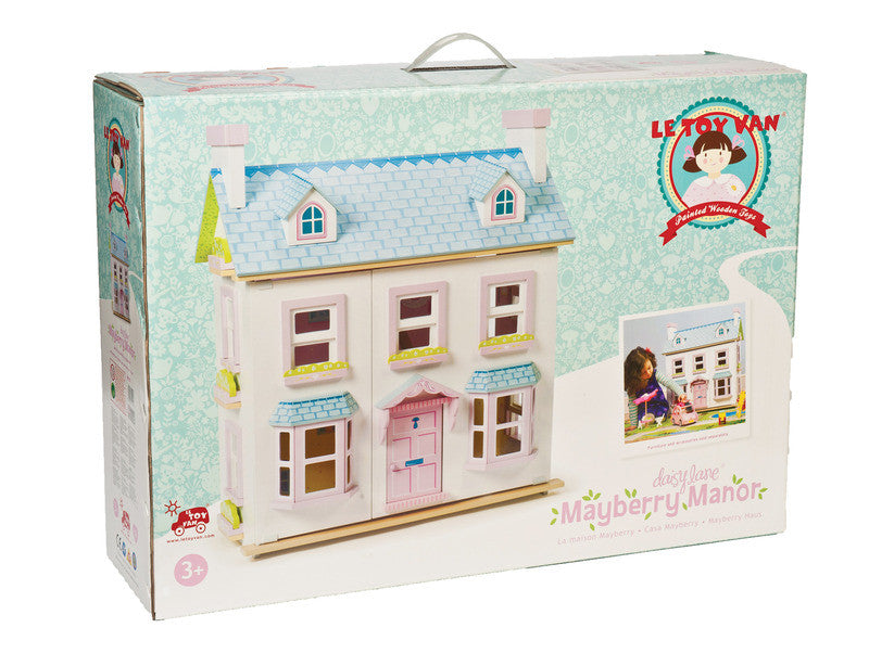 Doll House - Le Toy Van Mayberry Manor three level pink and blue