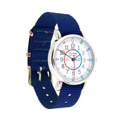 EasyRead Time Teacher Watch Red/Blue - Navy Strap