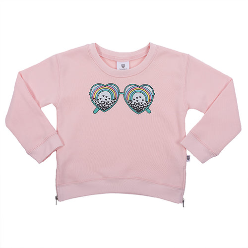 Hootkid See the Love Sweater - Ballet Pink