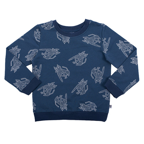 Hootkid Sit Boo Boo Sweater - Washed Navy