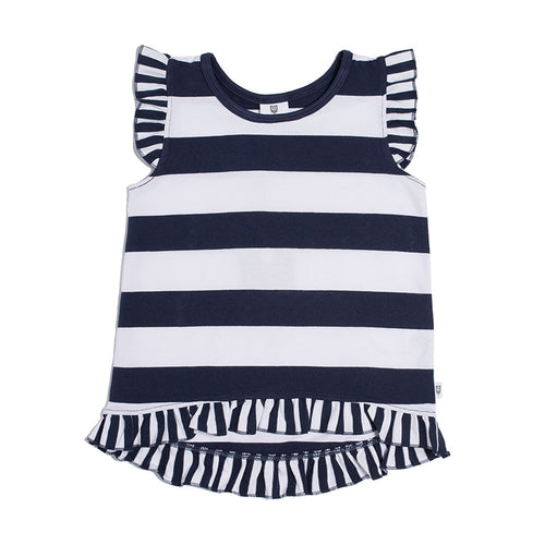 Hootkid Summer Stripe Top - Navy Stripe