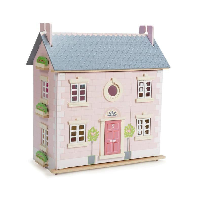 Doll House- Le Toy van Bay Tree House beautiful pink three level Doll House
