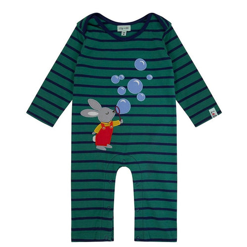 Lilly & Sid Bunny Bubbles Applique Playsuit