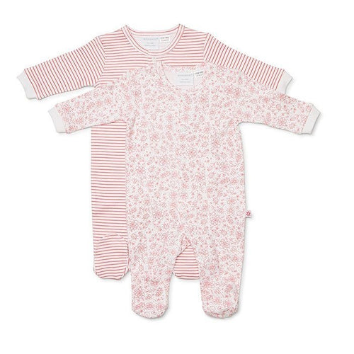 Marquise 2 Pack Studsuits - Floral/Red Stripe