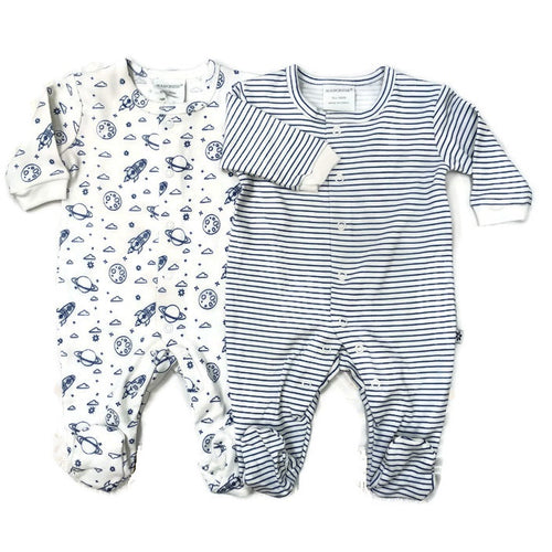 Marquise 2 Pack Studsuits - Space/Blue Stripe