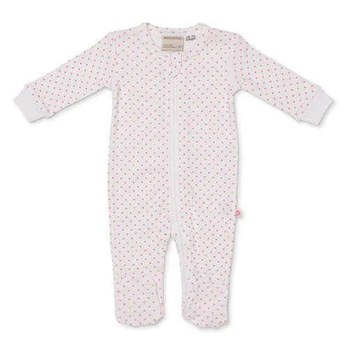 Marquise Zipsuit - Tiny Hearts Pink