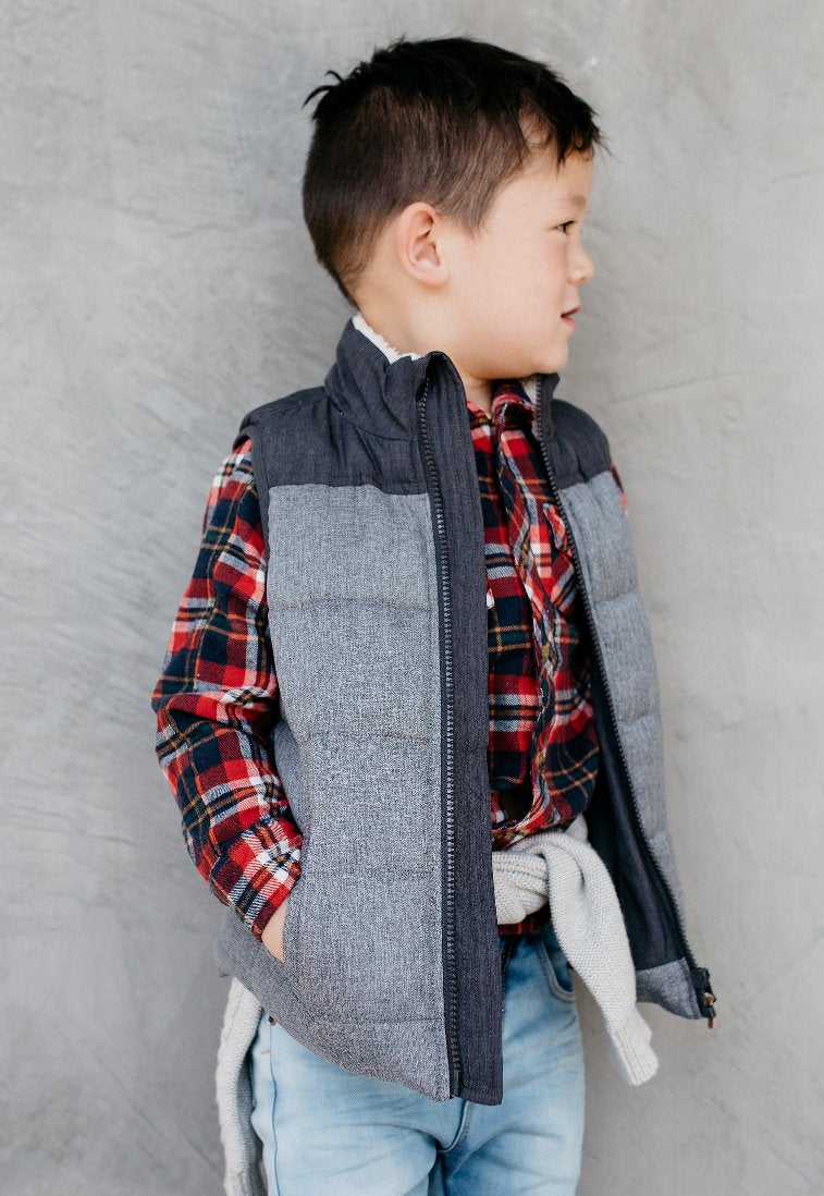 Milky Boys Charcoal Vest