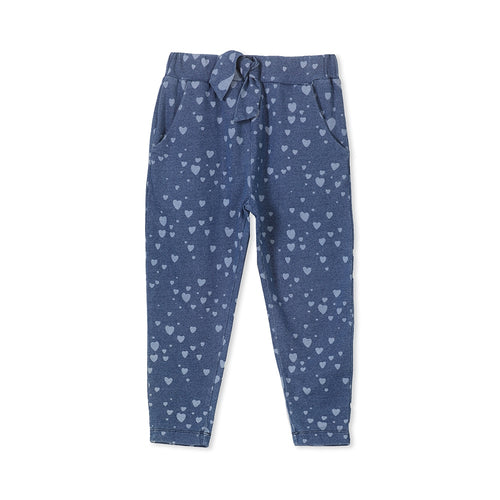 Milky Denim Heart Pant