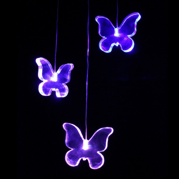 Lights for Kids - Delight Decor Light Mobile - Butterfly - This mobile has three acrylic butterfly shapes, each has individual colour changing LEDs. The shapes continually change through the different colours spectrum.