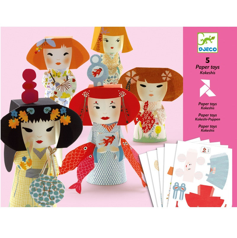 Create these delightful paper Djeco characters.This beautifully illustrated craft kit will keep any child entertained. Fold and stick these characters together