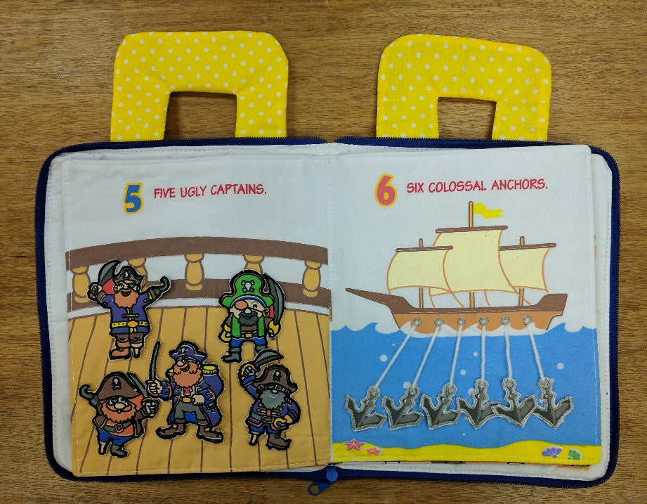 Pirate Book showing pirates and anchors pages.
