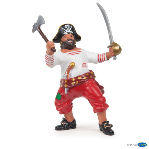 Corsair Pirate With Axe and Sword