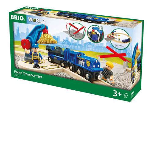 Brio Police Transport Train Set