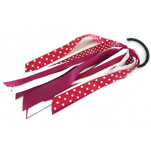 Pony Streamer Maroon School Colours