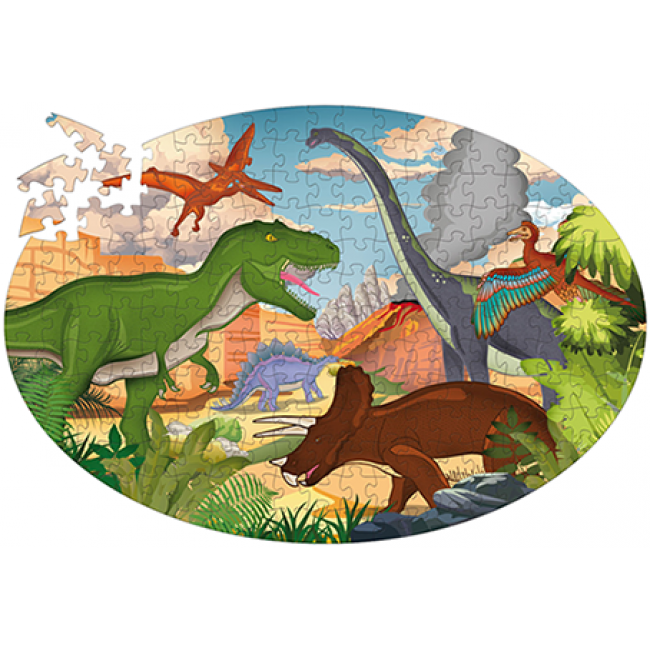 With this educational puzzle discover the gigantic reptiles who dominated the Earth millions of years ago!